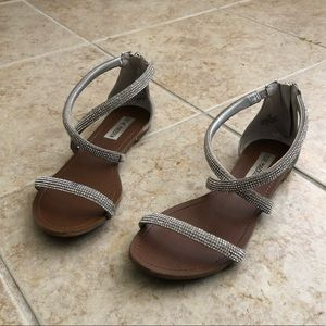 Sparkly silver Steve Madden sandals